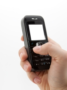 Cell Phone Being Used Image