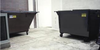 Use Nilium to Deodorize Dumpsters