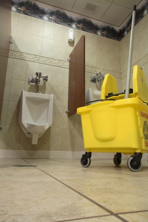 Mop Bucket and Urinal Image