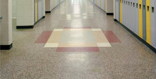 school floor. Microfiber Floor Cleaner On School Floors R