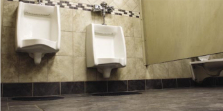 Urinals and Tile Floor Image