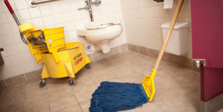 Green Odor Neutralizer in Mop Solution