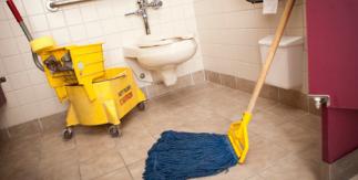 Green Odor Neutralizer in Mop Solution