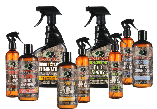 Mossy Oak® Dog Grooming Products and Odor & Stain Eliminators